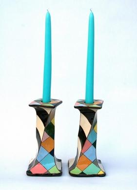 keramik lysestager Iøjnefaldende keramik og gedigent kunsthåndværk. Brugskunst og unika keramik lysestager